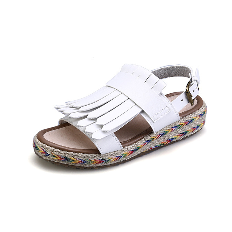 In the summer of 2018 the new Bohemia female flat sandals set toe tidal flat shoes with clip toe shoes Rome qiu dong season with plush slippers female students in the summer of 2017 the new han edition joker fashion wears outside a word