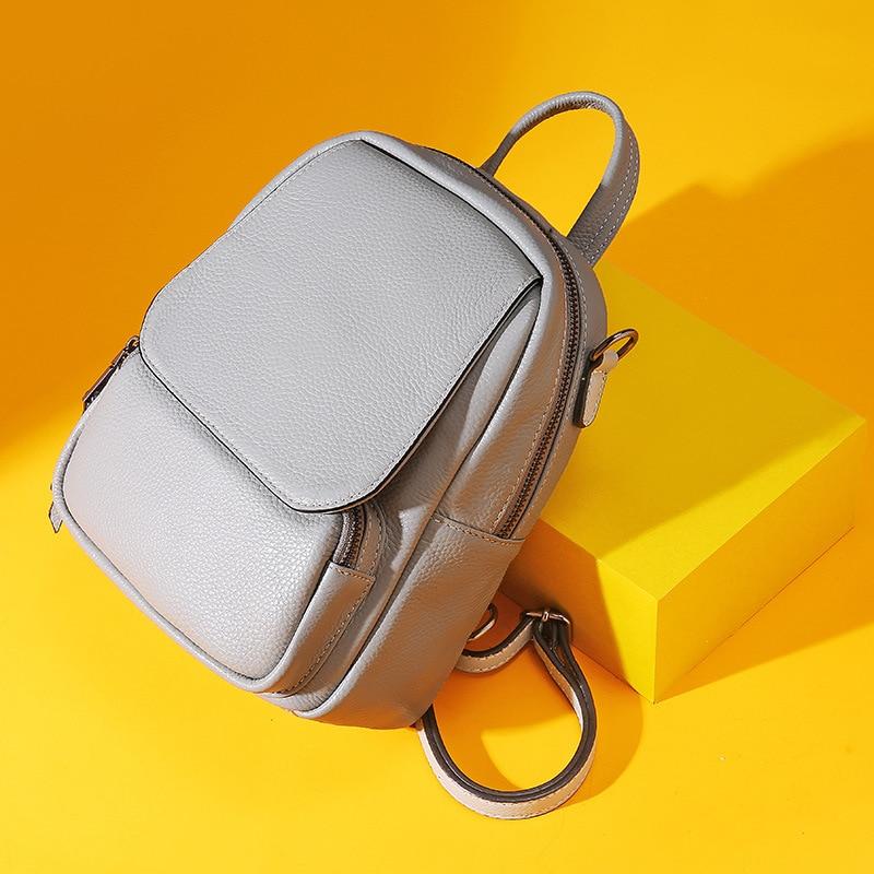 Luxury 100 Genuine Leather Backpack Women s Designer Brand Travel Bags School Bags For Teenage Girl