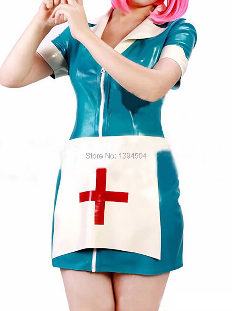 White pinafore apron nurse - 2017 Broadcloth Clubwear Promotion Costume Sexo Latex Catsuit Women Doctor Nurse Apron Dress Fetish Sexy Lingerie