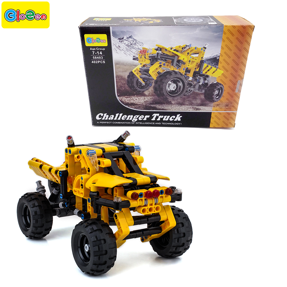 402pcs block truck toy car stress relief educational building blocks children toys for kids designer bricks technic series parts les enfants pj racing mission cruiser car dessin maskmm toy anime pj car big truck display jouet children bithday gift toys