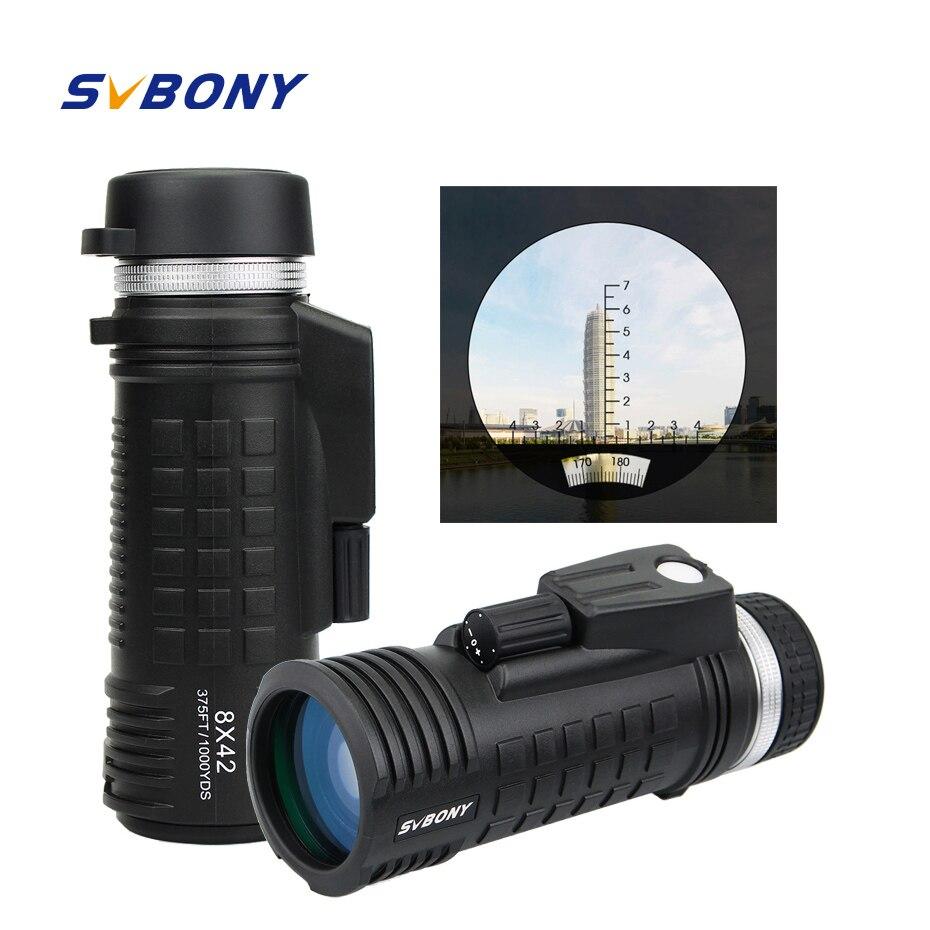 SVBONY 8x42 Monocular Telescope Built-in Compass Rangefinder Fully Multi-coating BAK4 Waterproof Binoculars Hunting F9335SVBONY 8x42 Monocular Telescope Built-in Compass Rangefinder Fully Multi-coating BAK4 Waterproof Binoculars Hunting F9335