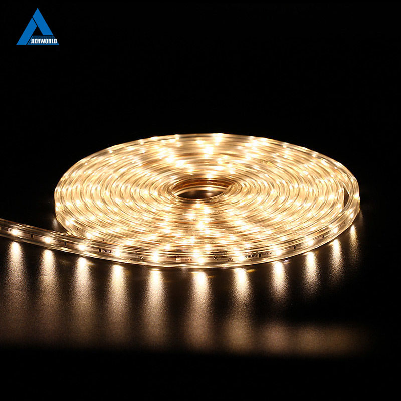 SMD 5050 AC 220V LED Strip Ağ Açıq Suya davamlı 220V 5050 220 V LED Strip 220V SMD 5050 LED Strip Light 5M 10M 20M 25M 220V
