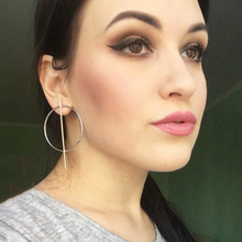 2017 Stylish European Simple Style Aros Big Round Circle Hoop Earrings for Women Geometric Stud Earing Brincos Gift XR176