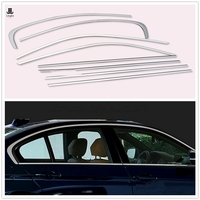Stainless Steel Window Sill Covers Trim Kit Fit For BMW 3 Series E90 320i 325i 328i 335i 2006 2007 2008 2009 2010 2011 2012