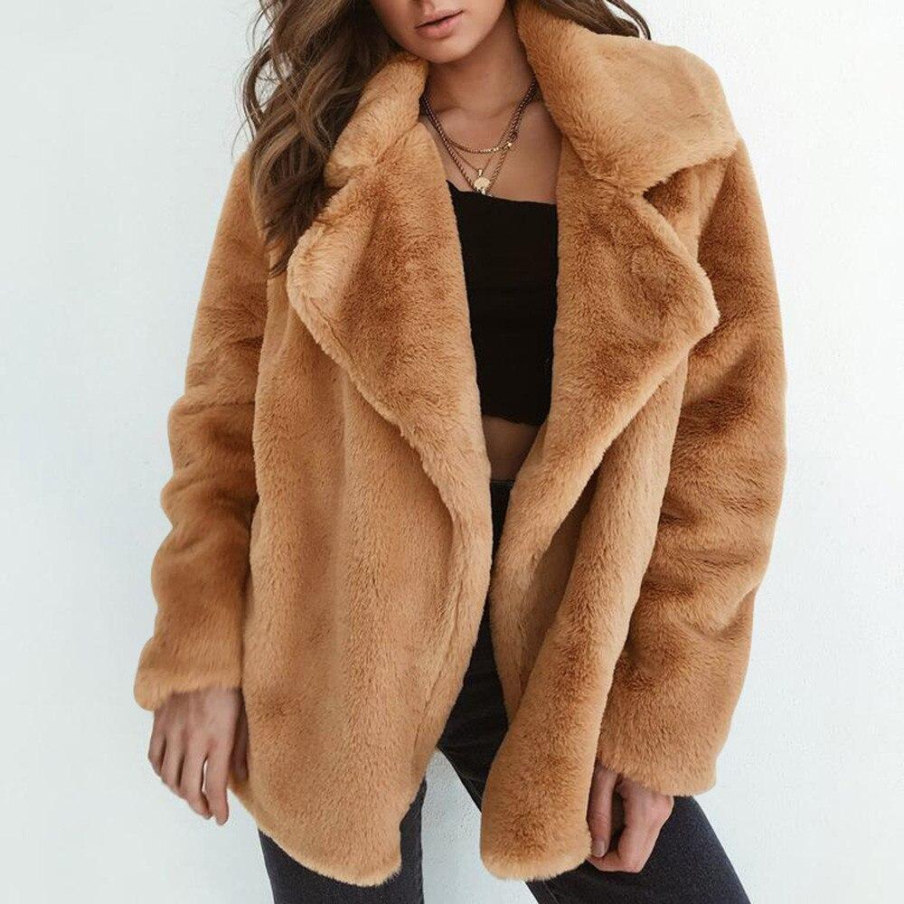 KLV 2018 חורף מעיל נשים חם הלבשה עליונה מעיל להתחמם הלבשה עליונה רופף גדול צווארון פרווה מעיל הלבשה עליונה מעילים