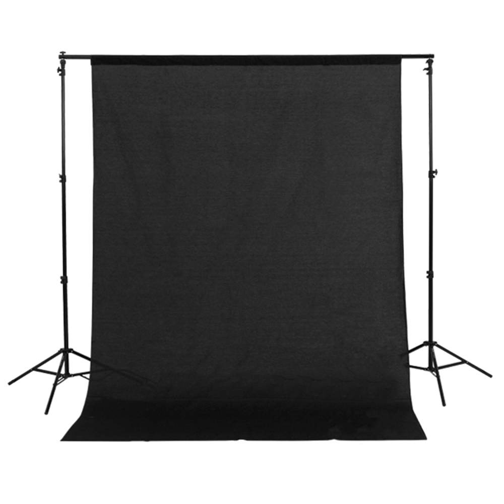 1 5m x 3m Cotton Muslin Photo Photography Backdrop Studio Background Cloth Black