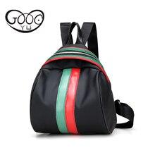 Полукруглый водонепроницаемый нейлон кожа рюкзак женщины дорожная сумка Красный и зеленый цвет украшения рюкзаки для девочек-подростков