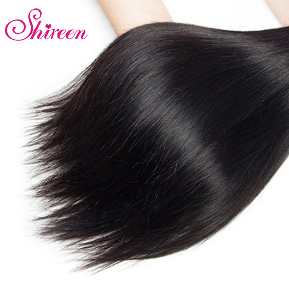Shireen Malaysian Straight Hair Weave Bundles 4 Bundles Maylasian Hair Human Hair Extensions Tissage Cheveux Humain Buy One Give One Hair Extensions & Wigs