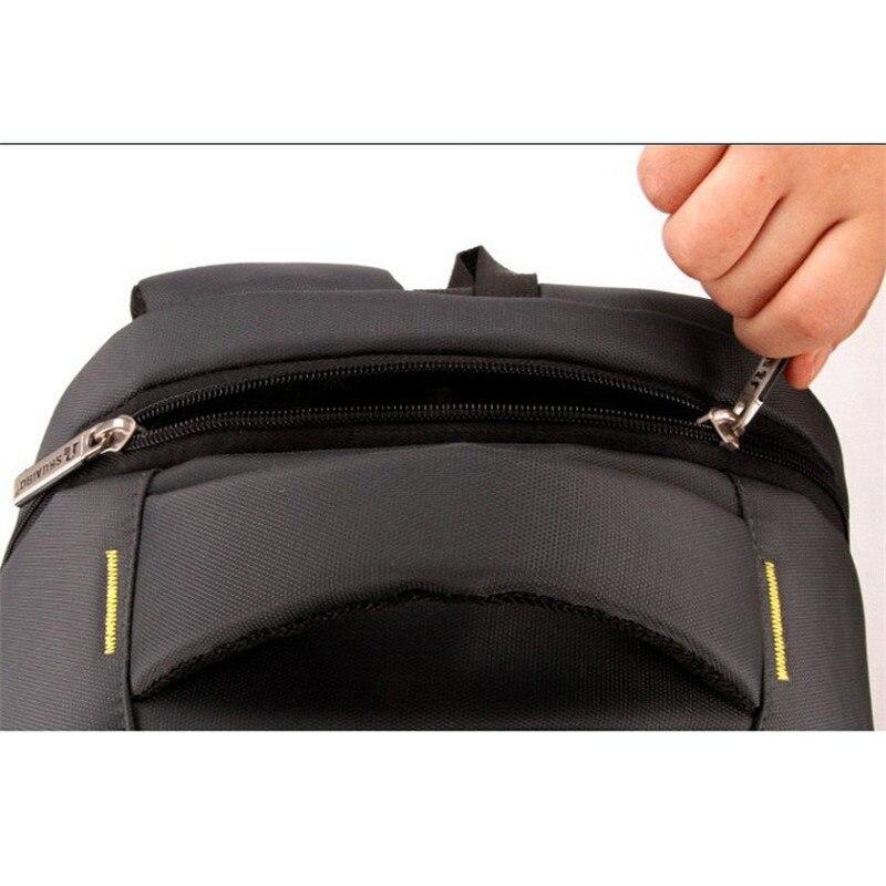 Double sac à bandoulière en nylon pour hommes sac à dos de loisirs 15.6 pouces pochette d'ordinateur étudiants livre sac collège femmes sac de voyage sac à dos - 6