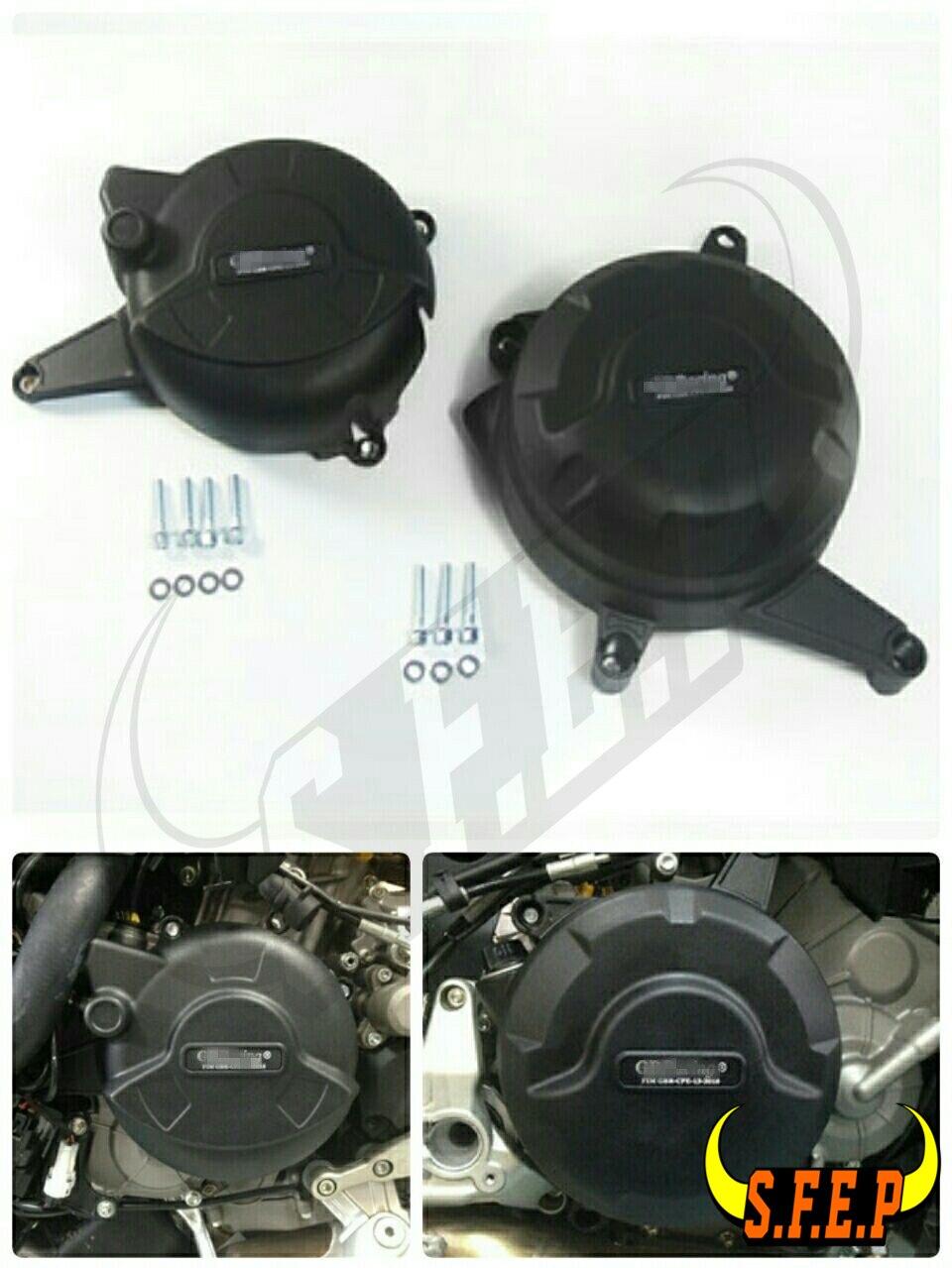 オートバイエンジンケースガードプロテクターカバーギガバイト用ドゥカティ 899 パニガーレ 2014 2015 黒  グループ上の 自動車 &バイク からの エンジン ボンネット の中 1