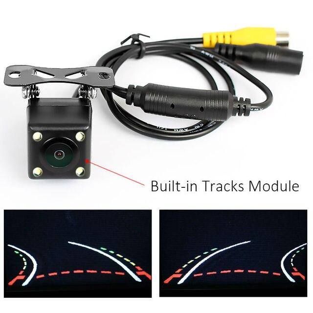 אינטליגנטי דינמי מסלול מסלולים מצלמה אחורית HD CCD הפוך מצלמה גיבוי אוטומטי היפוך חניה סיוע