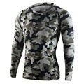 Men's Camouflage Cycling Jersey Compression Tight Shirt Long Sleeve Bike Bicycle Polyester Underwear Sports Wear Clothing M-2XL