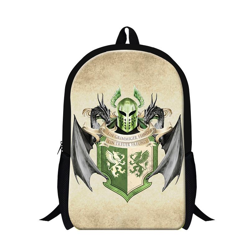 Newest School Backpack Custom Game of Thrones Eddard Stark And Iron Throne Printed Kid\'s School Bag