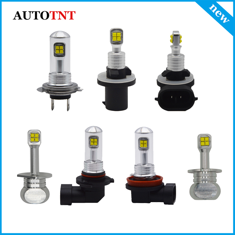 2X H1 <font><b>H3</b></font> H7 H11 H8 9005 9006 880 881 <font><b>LED</b></font> Fog Lamps DRL Driving Light Bulb Daytime Running Light 12~24V powered by <font><b>Cree</b></font> Chip image