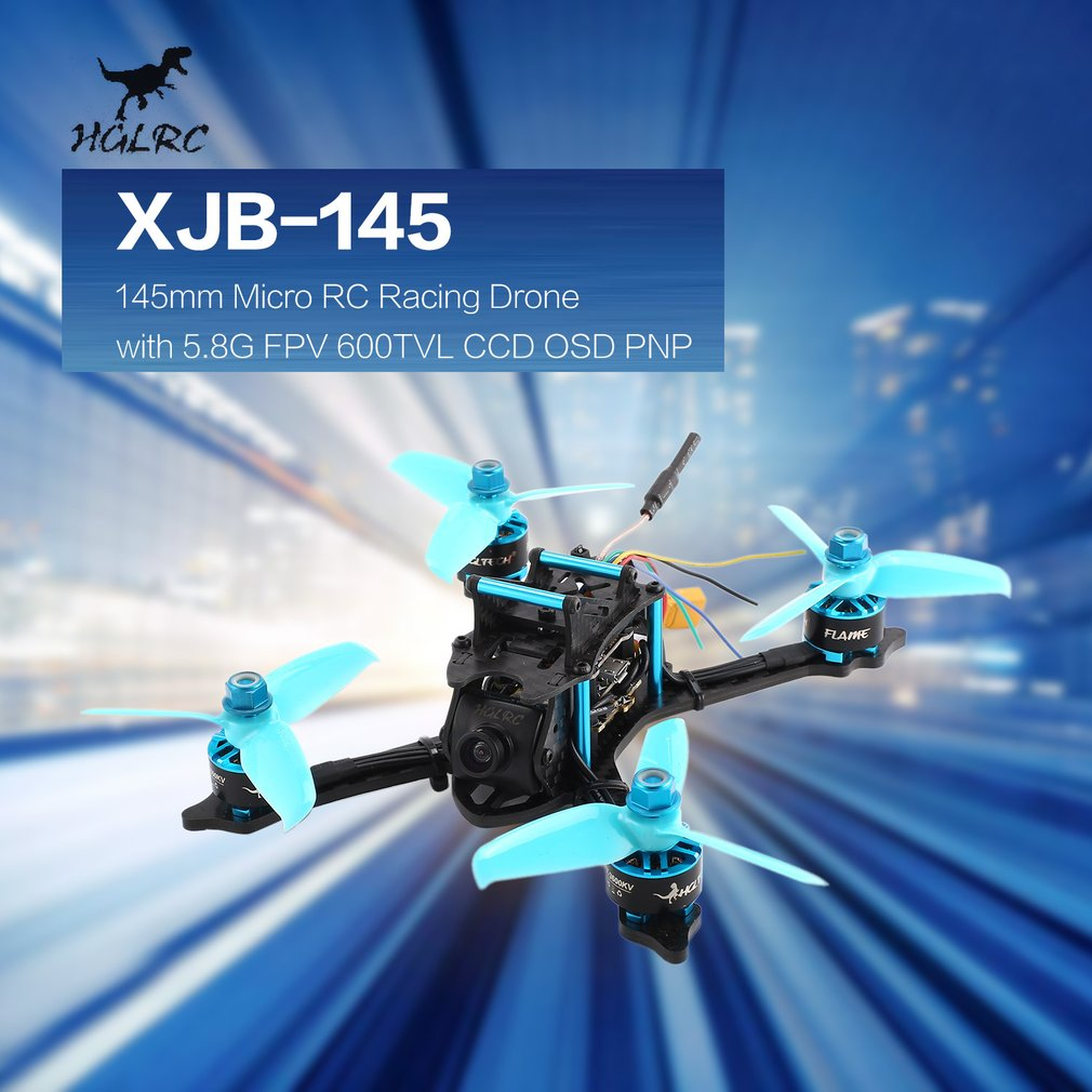 купить HGLRC XJB 145 145mm Micro Mini Brushless RC Racing Quadcopter Drone Aircraft with 5.8G FPV CCD VTX/F4 FC with OSD PNP онлайн