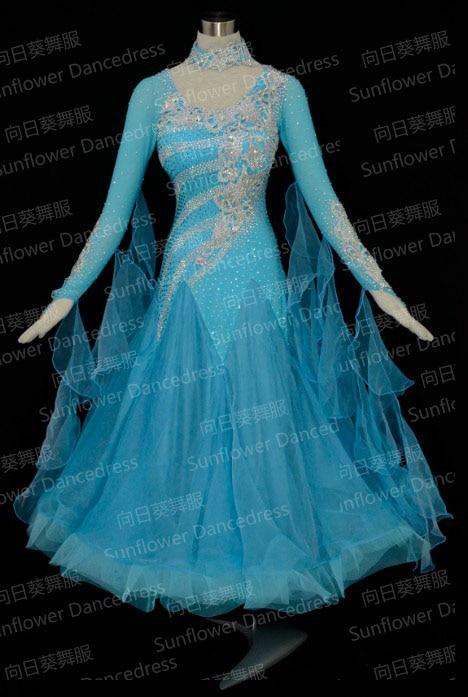 New Lady Ballroom Dance Dresses Standard Stage Costume Performance Womens,Smooth Ballroom Dress,Modern Waltz Tango,Sunflower