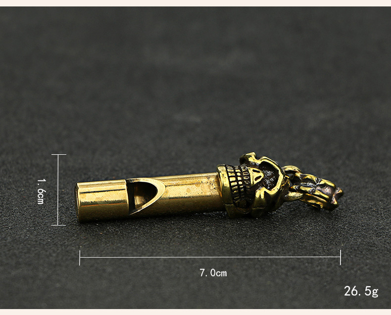 Whistle Key Chain Copper  (7)