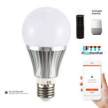 Buy E27/E26/B22 Smart WIFI Light Bulb 18W Bright LED Bulb WIF/APP/woice Remote Control Music Audio for Alexa/Google Home directly from merchant!