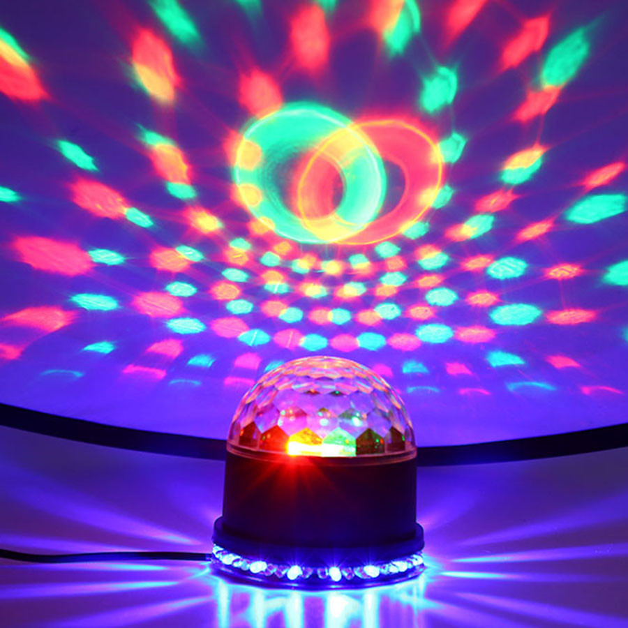 Voice Control RGB DJ Disco LED Stage Lamp Crystal Magic Ball Sound Activated Laser Projector Stage Light Party Disco Light