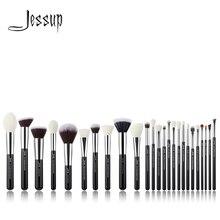 Джессап комплект черный/серебряный профессиональный макияж кисти набор Фонд порошок тени для век Make up Brush краснеет натуральный-синтетические волосы
