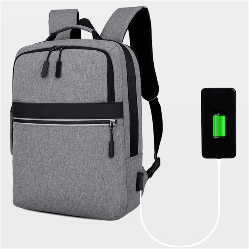 With USB Charging Port 15.6 inch Laptop Backpack Anti-Theft School backbag For M