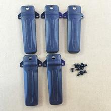 10 stks/partij riemclip voor Kenwood TK3207 TK2207 TK3207G TK2207G TK3300 TK3307 etc walkie talkie met schroef