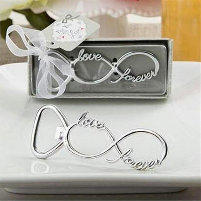 1 Pc Love Forever Abridor de garrafas Favores E Presentes de Casamento Presentes De Casamento Para Convidados Lembranças De Casamento Fontes Do Partido