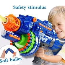 Pistolet jouet électrique 20 rafales pour garçons de balles en plastique élastiques souples pour combattre 20 rafales de terrain de Sniper jouets de plein air pour enfants