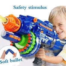 Pistolet à jouets électrique 20 éclats pour les garçons de balles en plastique élastique souple pour combattre 20 éclats de jouets de plein air de terrain de Sniper pour les enfants