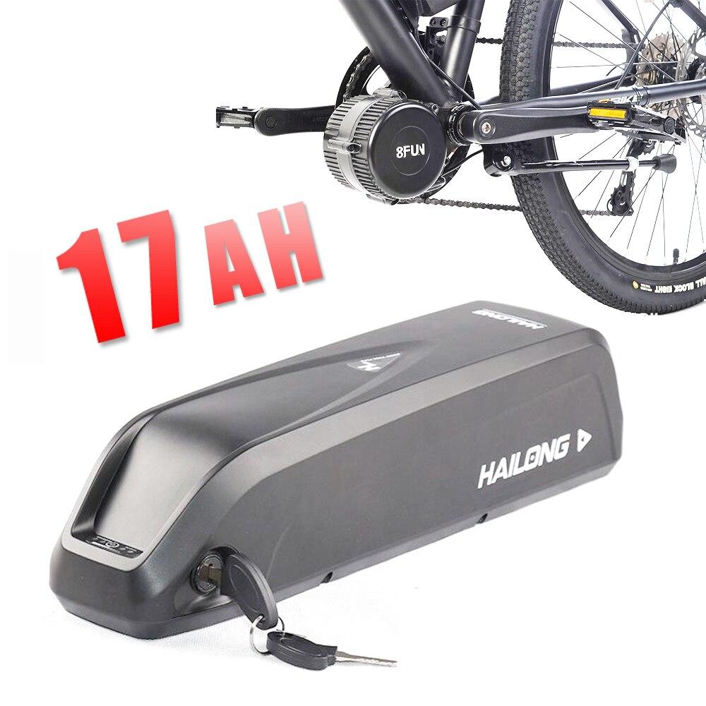 La UE nos es sin impuestos Hailong 48 V batería 17AH bicicleta eléctrica batería de iones de litio para BAFANG BBS02 BBSHD 750 W 1000 W