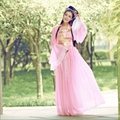 Древние китайские феи костюм шифоновое платье принцессы королева костюмы традиционные китайские одежды комплект одежды