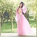 Chino antiguo del traje traje de gasa de la princesa reina disfraces mujeres de ropa tradicional ropa china conjunto