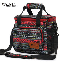 2019 Women Large Portable Lunch Bag Fresh Picnic Box Thermal Insulated Tote Waterproof Cool Travel Food Storage Hand Bags