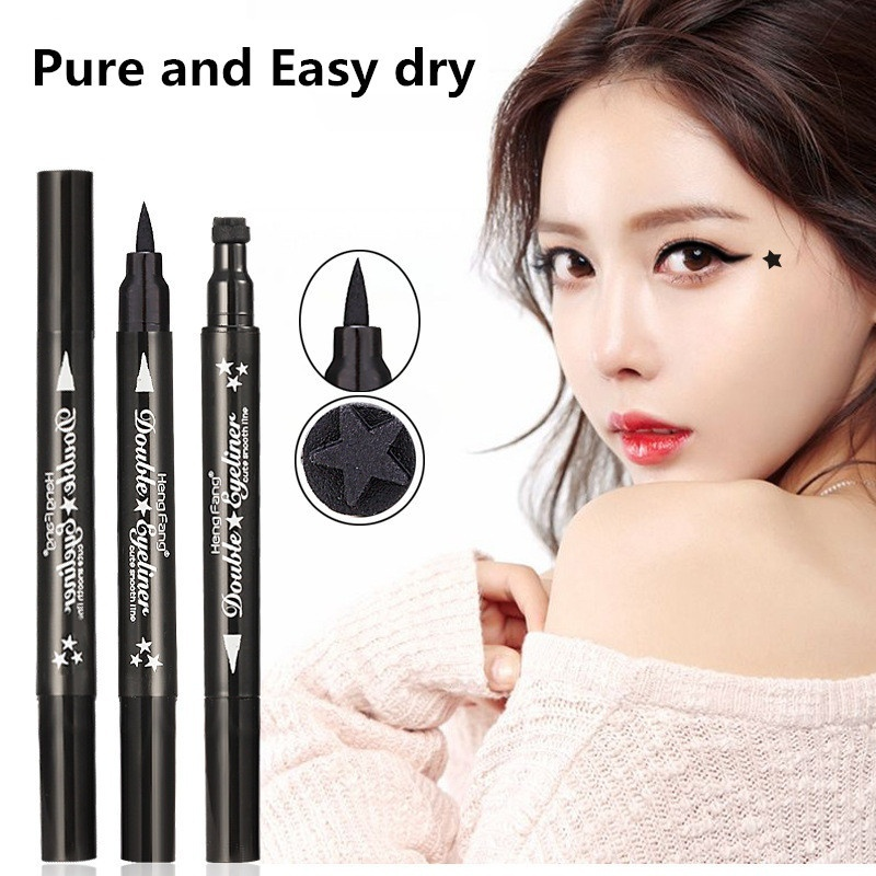 Fashion Star Eyeliner Pen Black Eye Liner Seal Pencil Liquid Cosmetic Beauty Long Lasting Waterproof Makeup Tool 1 Piece Elegant And Sturdy Package Beauty Essentials