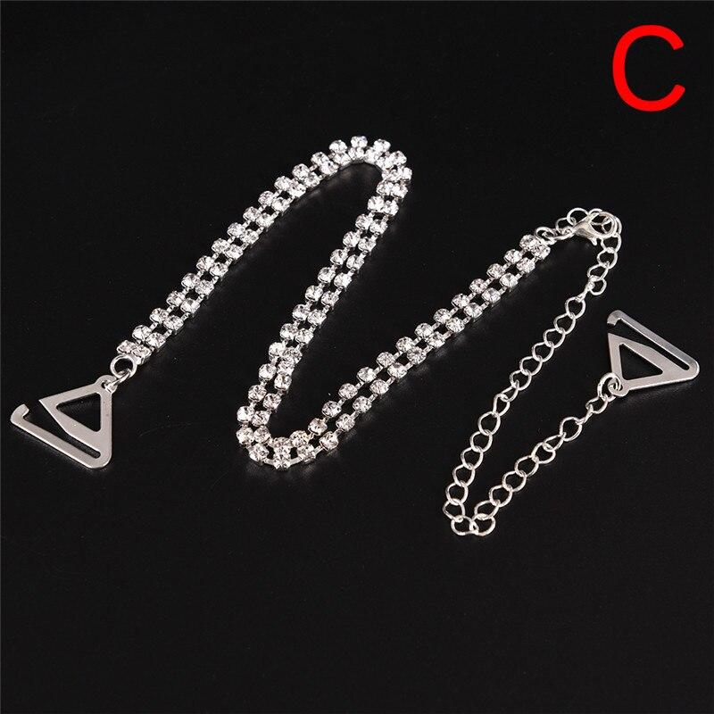 0ffa280c0bc3a 2Pcs pair Adjustable Bra Straps 2 Rows Crystal Gorgeous Prom Diamante  Rhinestone Bra Straps Belt Sparkle Shoulder Strap-in intimates  accessories  from ...