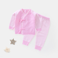 Newborn Boys Girls Knitted Cotton Clothing Sets Infant Striped Warm Clothing Suits Baby Toddler Comfortable Outfits Sets AA52190
