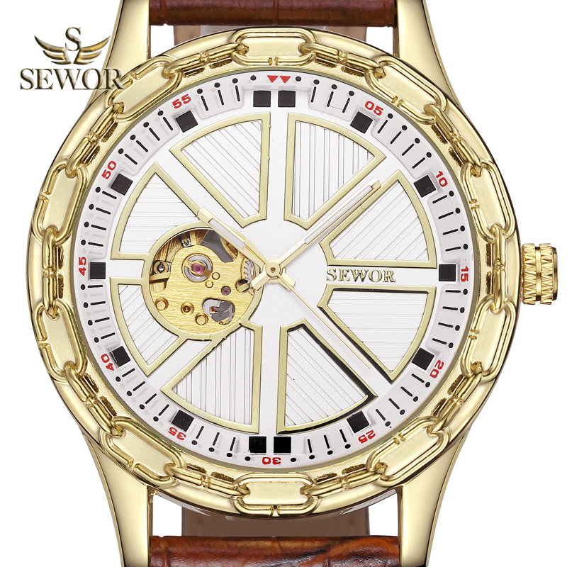 SEWOR 2019 Luksusowa marka Chalet Yoke Shape Mens automatyczny - Męskie zegarki - Zdjęcie 1