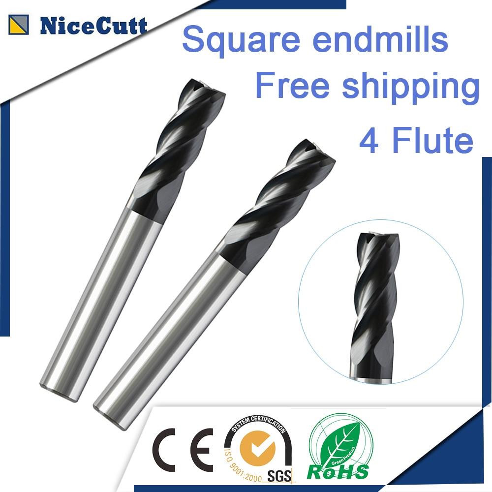 Tasuta kohaletoimetamine 5 tk tahke karbiidiga 4 flööriga ruudukujuline lõppveski 35-kraadine heeliksi freeslõikur D2-D12