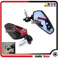 """Universal Motorcycle CNC 7/8"""" 22mm Rearview Mirror Handle Bar End Blue Side Mirror For DUCATI Monster 695 696 796 1100 1200 Red"""