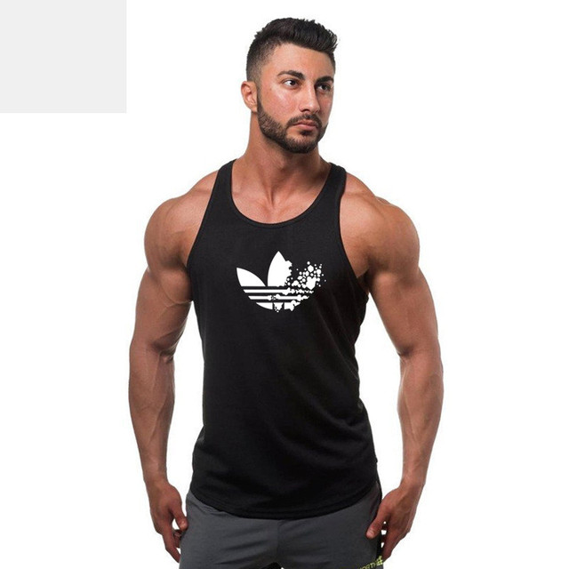 5df84079d4aba1 2018 Gyms Clothing Bodybuilding Tank Top Men Fitness Singlet Sleeveless  Shirt Cotton Muscle Guys Brand Undershirt for Boy Vest