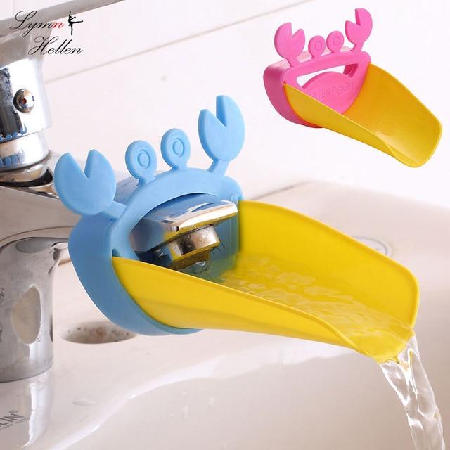 קריקטורה חמודה לילדים תינוק מתעל Extender המנחה מים ברז ברז יד לשטוף קל לנשיאה ליישם נוח צעצועים לילדים מצחיקים
