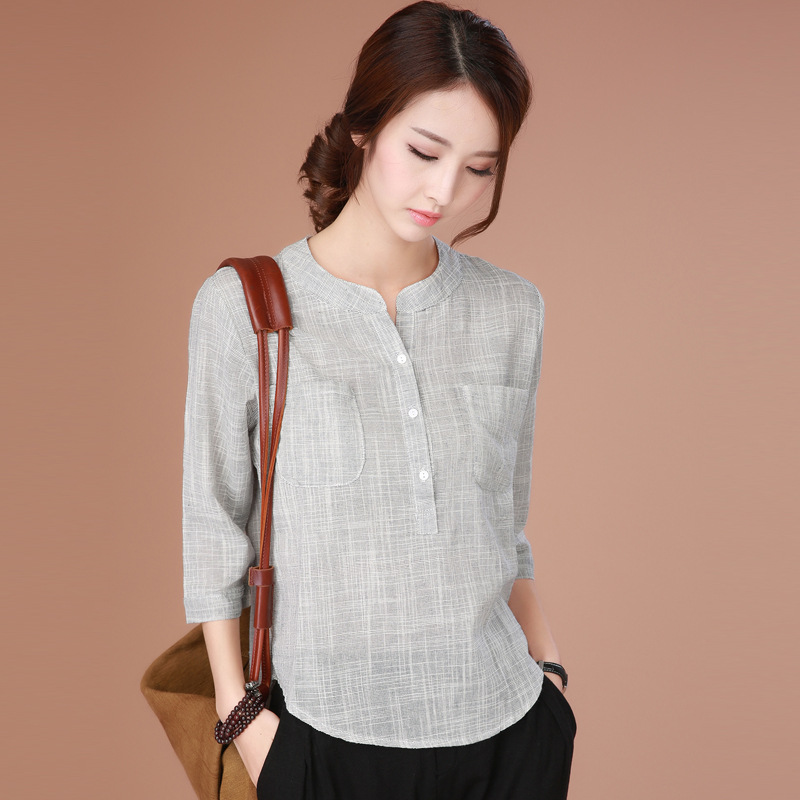 Three Quarter Sleeve Shirts Women S
