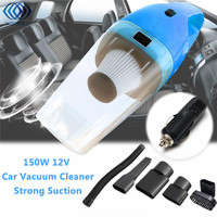 12V 150W Strong Suction Auto Vacuum Cleaner 6 In 1 Handheld Vacuums With 4m Power Cord
