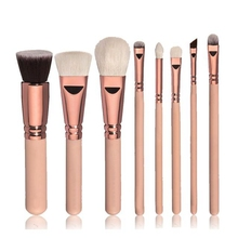 Toopoot 2017 Luxury brand Professional 8pcs Cosmetic Makeup Brush Blusher Eye Shadow Make up Brushes Set Kit Wholesale