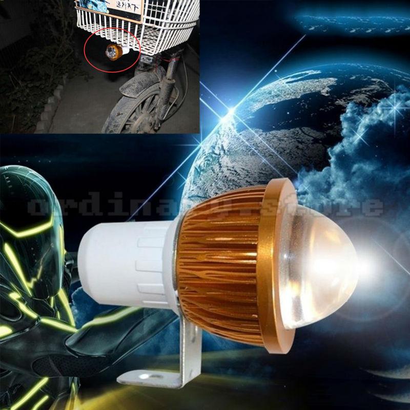 Universal For All Motorcycle Electric Bike Headlight Fisheye Lens LED Head Light Driving Fog Spot Lamp Night Safety Headlamp 6W 15w universal car motorcycle electric bike waterproof led headlight white best sell nov 29