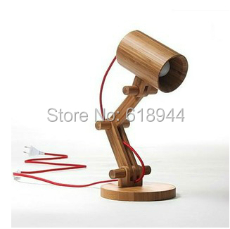 ФОТО Newest Design Wood Table Lamps Desk light Living Room Bedroom Decor 110-240V Wood Table Lighting Folding Table Lamp Study Lamps