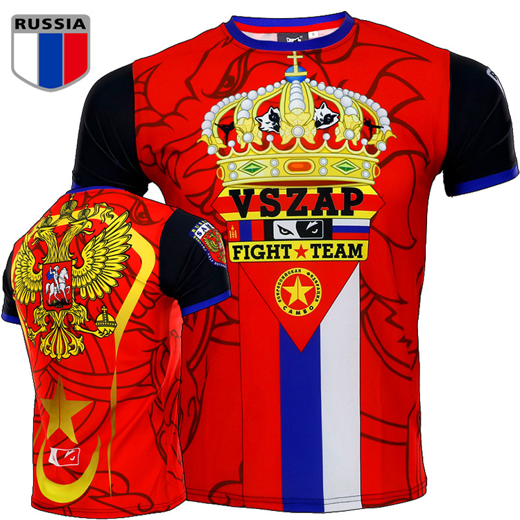 VSZAP MUAY THAI THAI Fighting Sport Short Sleeved T-shirt Fovboq Fitness  Tiger MMA