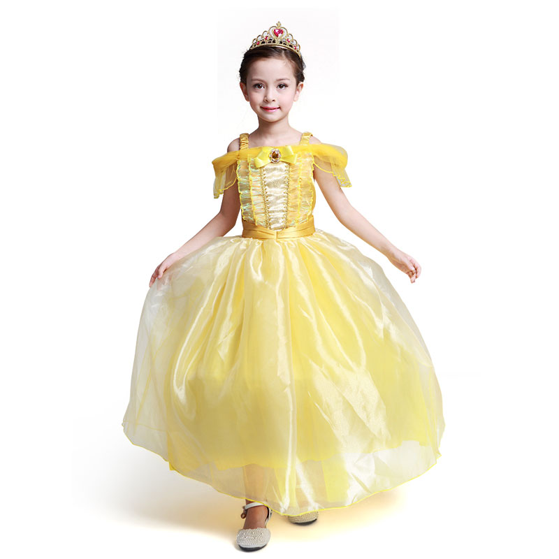 Girls Dress Cospaly Clothes KIds Christmas Party Princess Party Clothing Baby Girls Princess Dresses Hallowmas Clothes Vestido 4pcs baby girl clothes swan infant clothing princess tutu dress party baby christmas outfits clothes birthday costumes vestido