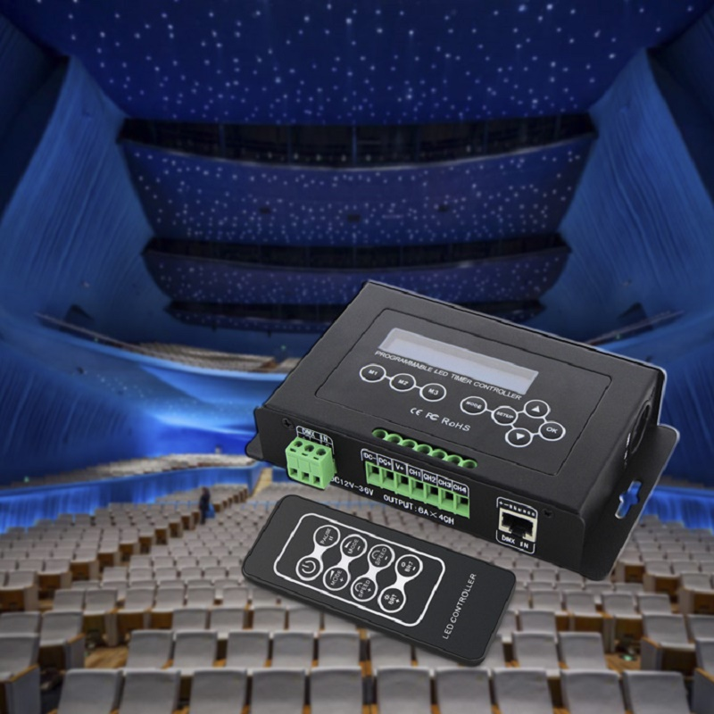 RGB RGBW Tape Controller programmable Timer BC-300 DC12V-36V Time programmable LED Controller Light DMX 512 ControllerRGB RGBW Tape Controller programmable Timer BC-300 DC12V-36V Time programmable LED Controller Light DMX 512 Controller
