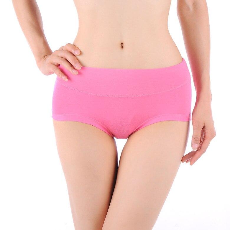 New ! 5PCS/lot Breathable Bamboo Fiber Antibiotic Seamless Women Bamboo Underwear High Waist Plus Size L-XXXL Free Shipping
